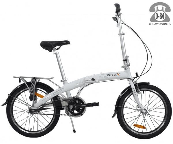 "Велосипед Фолдикс (FoldX) Slider (2017) размер рамы 17"" белый"