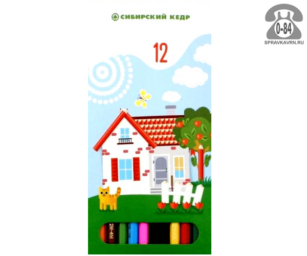 Цветные карандаши Карандашная деревня цветов 12 картонная коробка