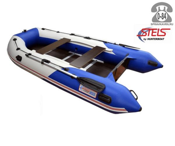 Лодка надувная Hunterboat STELS 355, синий/белый