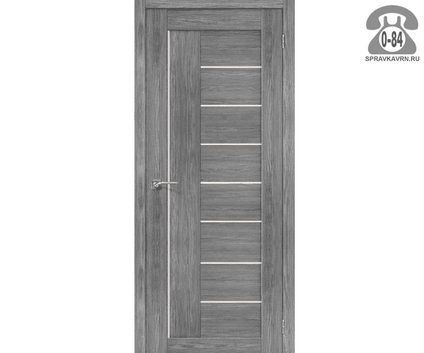 Межкомнатная деревянная дверь ЭльПорта, фабрика (el PORTA) Порта-29 Magic Fog остеклённая 60 см Грей Вералинга (Grey Veralingа)