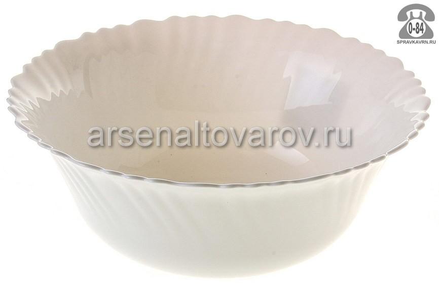 Салатник Даникс (Daniks) Белый LHW90