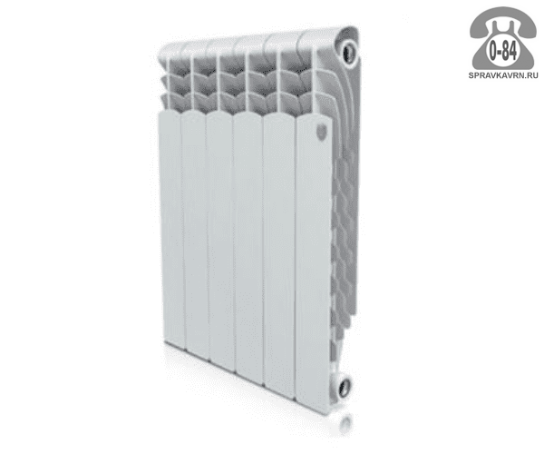 Радиатор отопления Роял Термо (Royal Thermo) биметаллический плоский 1 350 мм 420 мм 80 мм 80 мм Россия