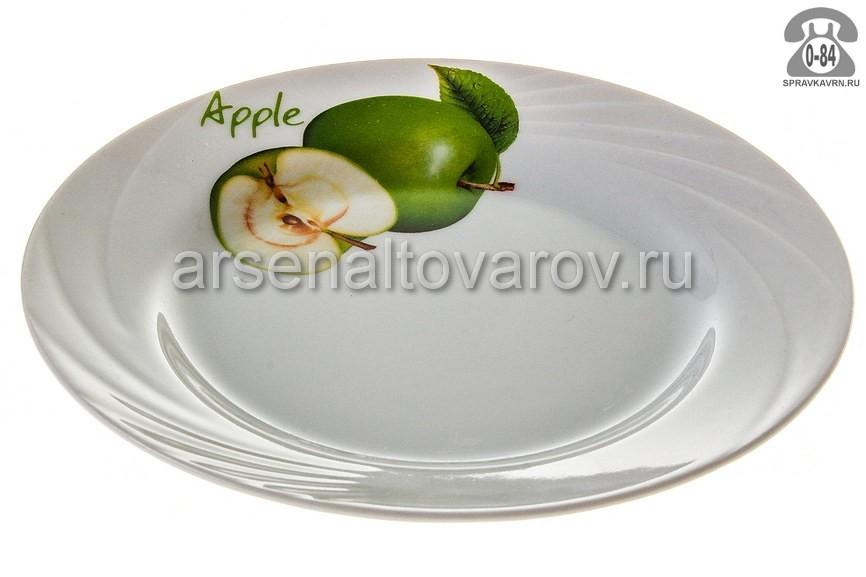 Тарелка Добрушский фарфоровый завод Голубка Зеленое яблоко