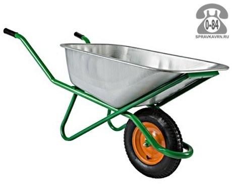 Тачка садовая 1-колёсная усиленная 200 кг 100 л сталь оцинкованная