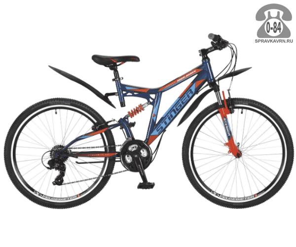"""Велосипед Стингер (Stinger) Highlander 200V 26 (2017) размер рамы 16.5"""" синий"""