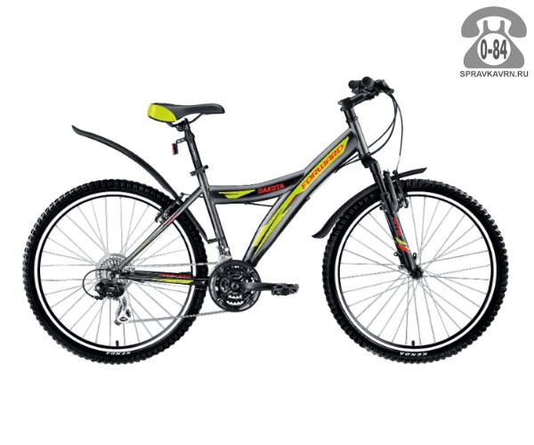 """Велосипед Форвард (Forward) Dakota 26 2.0 (2017) размер рамы 17.5"""" серый"""