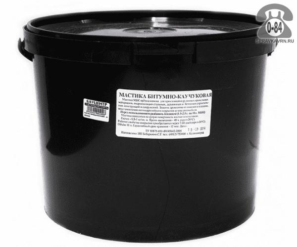 Мастика гидроизоляционная битумно-каучуковая 1 л