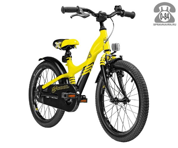 Велосипед Скул (Scool) XXlite 18 alloy (2017), желтый