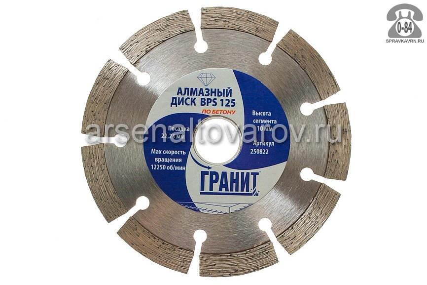 Круг отрезной Гранит 1.2мм диаметр 125мм для бетон