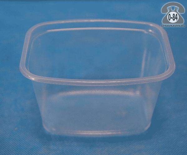 Контейнер пищевой Стиролпласт пластмассовый (пластиковый, полипропиленовый) 0.5 л прямоугольная для СВЧ-печи с крышкой г. Москва