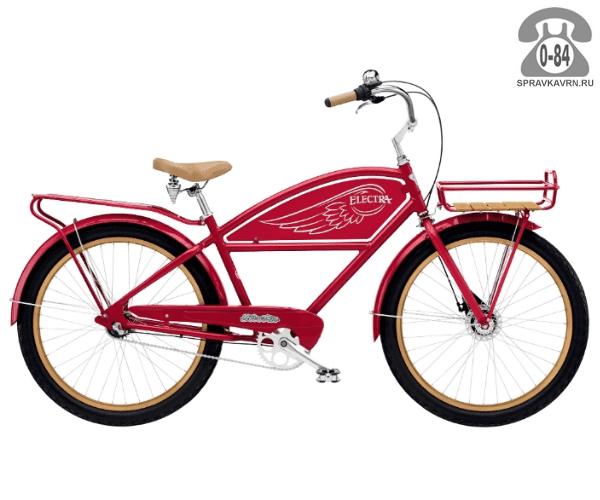 Велосипед Электра (Electra) Cruiser Delivery 3i Mens (2016) красный