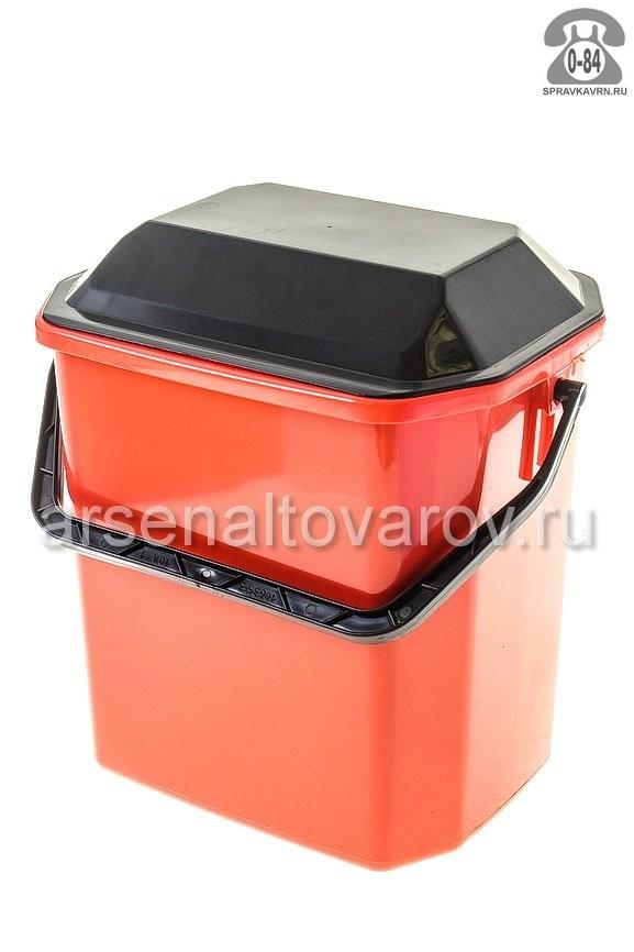 Ведро для мусора Идея (Idea) М 2480, цвет: бежевый мрамор