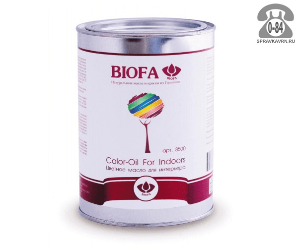 Мастика Биофа (Biofa) Color-Oil For Indoors 1л капучино