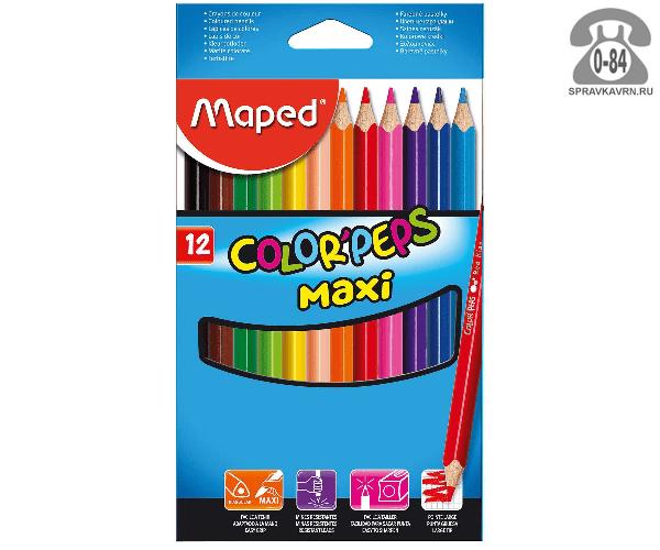 Цветные карандаши Колор Пепс Макси диаметр грифеля 4.7 мм