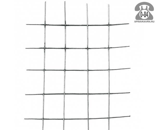 Сетка строительная сварная сталь неоцинкованная 2.6 мм 55 мм 55 мм 0.38 м 2 м