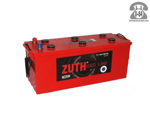 Аккумулятор для транспортного средства Зуф (Zuth) 6СТ-225 обратная полярность 518*276*242 мм