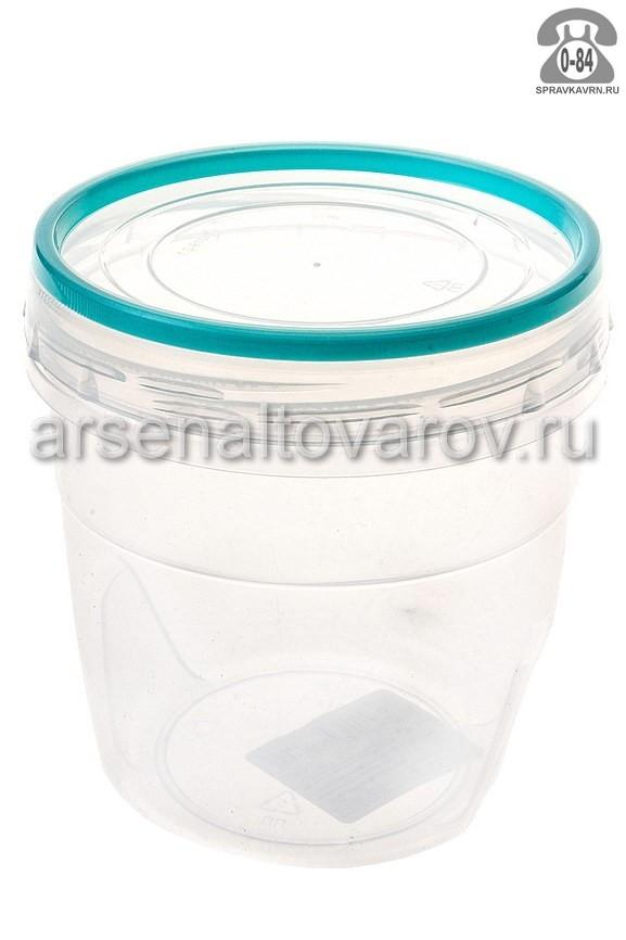 контейнер для СВЧ пластмассовый 0,5 л Премиум (С43201) прозрачный (Полимербыт)