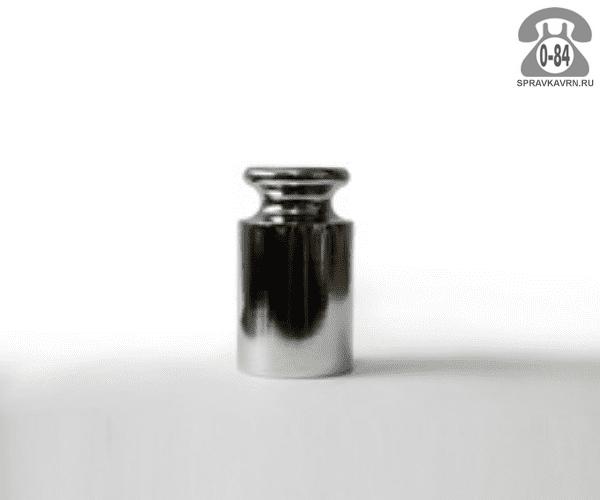 Гири Московский весовой завод сталь хромированная М1 10 мг калибровочная цилиндр с головкой 28 мм 49 мм 200 г с футляром Россия