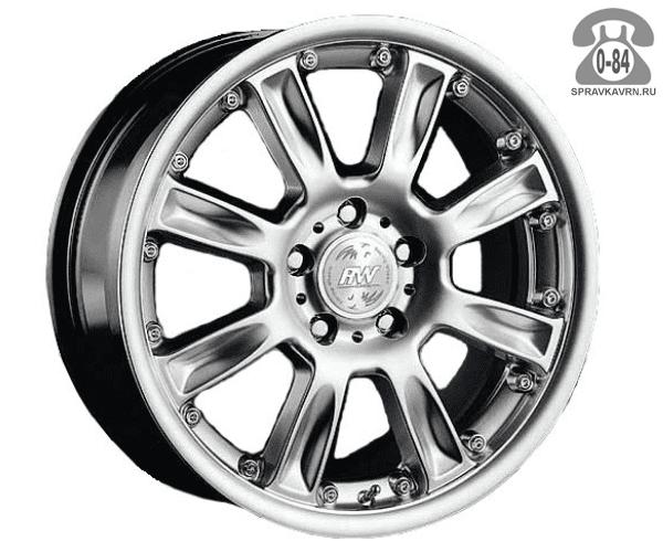 """Диск РВ (Racing Wheels) H-253 15"""" ширина 7"""" крепежных отверстий 5 диаметр расположения отверстий 114.3 мм вылет колеса (ET) 38 мм диаметр центрального отверстия 73.1 мм"""