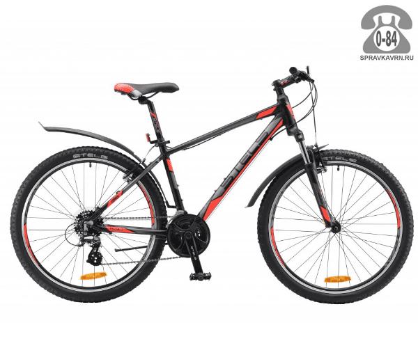 "Велосипед Стелс (Stels) Navigator 630 V 26 (2017), рама 20.5"" размер рамы 20.5"" черный"