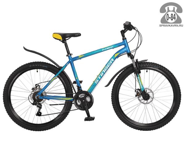 """Велосипед Стингер (Stinger) Element D 26 (2017), рама 16.5"""", синий размер рамы 16.5"""" синий"""