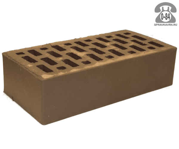Кирпич лицевой Braer Front Brick М175 светло-коричневый
