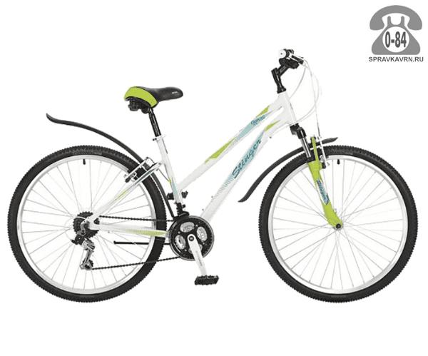 "Велосипед Стингер (Stinger) Element Lady 26 (2017), рама 15.5"", белый размер рамы 15.5"" белый"