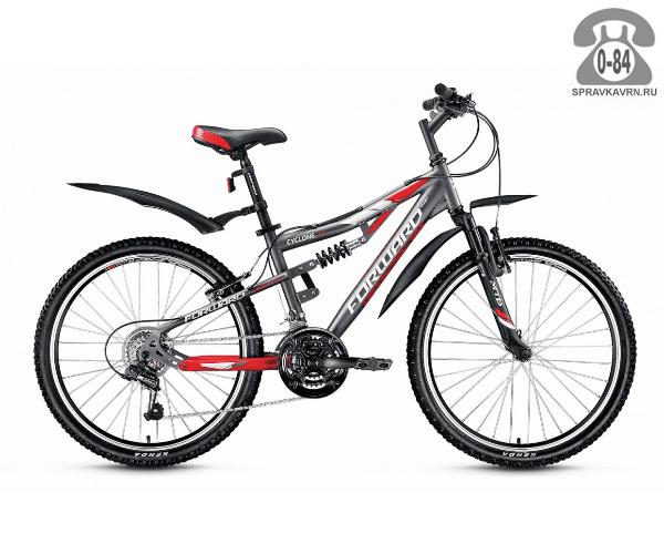 "Велосипед Форвард (Forward) Cyclone 2.0 (2017) размер рамы 14.5"" серый"