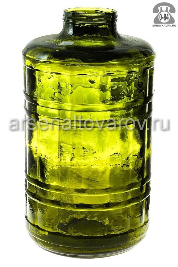 Банка стеклянная Твист-100 зеленая стандартная 15 л