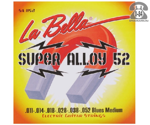 Струны для электрогитары Ла Белла (La Bella) SA1152