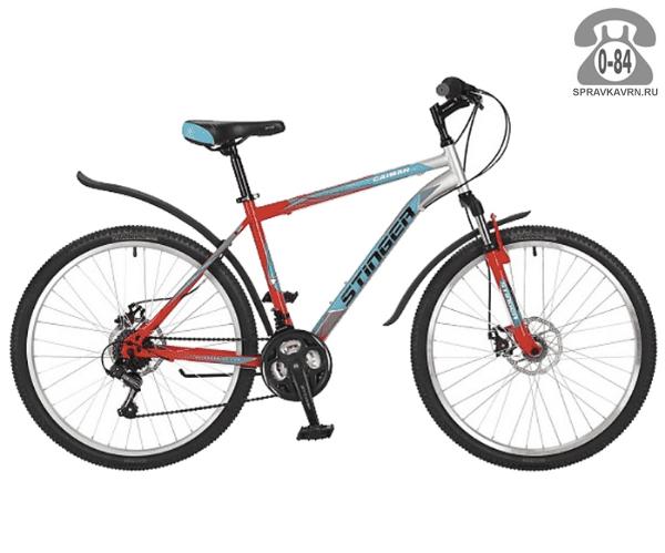 """Велосипед Стингер (Stinger) Caiman D 26 (2017), рама 20.5"""" размер рамы 20.5"""" серый"""
