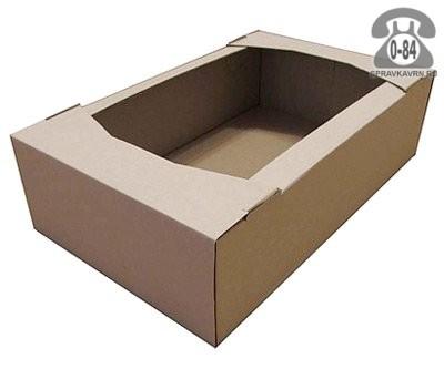 Коробка упаковочная Таракомплект картон гофрированный (гофрокартон, гофрокороб) для кондитерских изделий