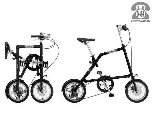 Велосипед Нэну (Nanoo) 148 (2016), черный