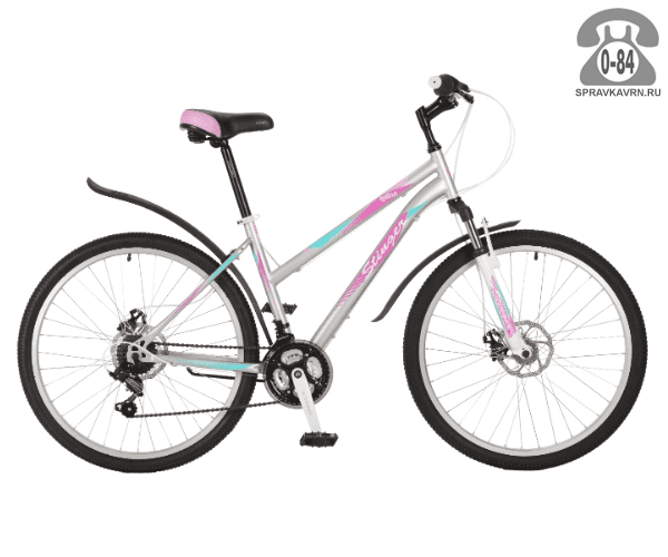 """Велосипед Стингер (Stinger) Latina D 26 (2017), рама 17.5"""", серый размер рамы 17.5"""" серый"""