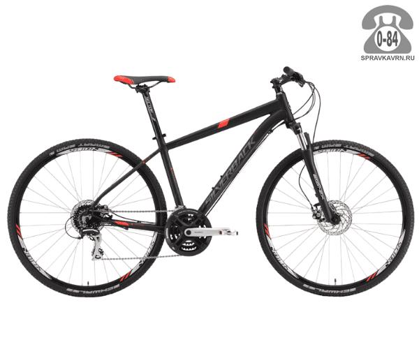 "Велосипед Сильвербэк (Silverback) STRIDE 20 (2016), рама 16.5"" размер рамы 16.5"" черный"