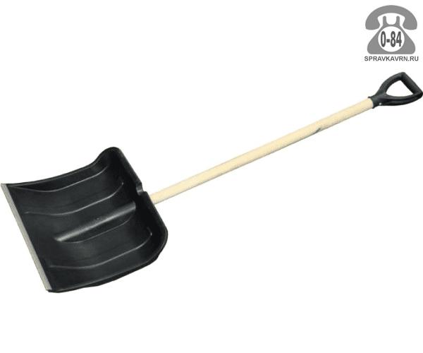 Лопата снеговая (снегоуборочная) пластиковая (пластмассовая) с черенком 420 мм 420 мм