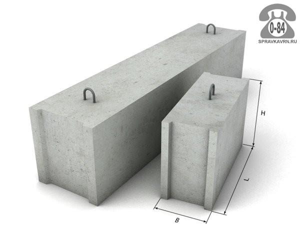 Блок фундаментный ФБС 24-4-6Т, Вертикаль, ООО