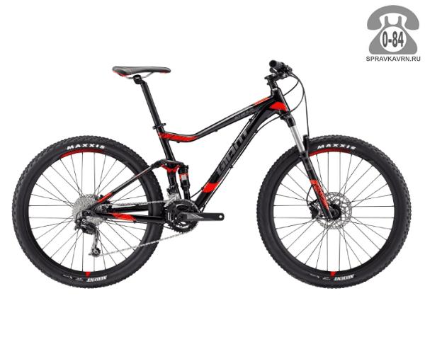 """Велосипед Джайнт (Giant) Stance 2 (2017), рама 20.5"""" размер рамы 20.5"""" черный"""