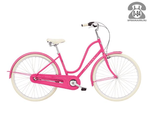 Велосипед Электра (Electra) Amsterdam Original 3i Ladies (2016) розовый