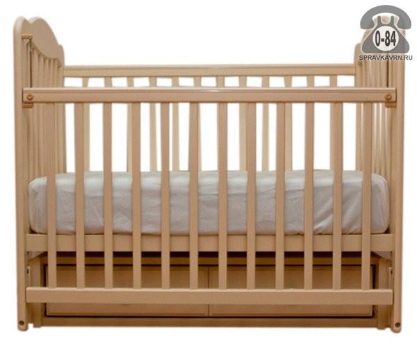 Кроватка Счастливый малыш Дюймовочка 008, маятник