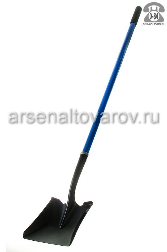 Лопата штыковая с черенком фибергласс окрашенная прямоугольная г. Нижний Новгород