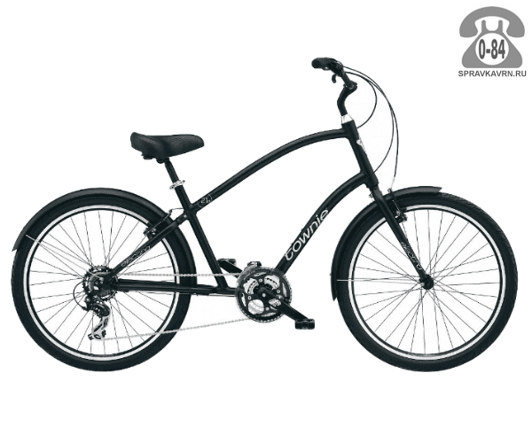 """Велосипед Электра (Electra) Townie Original 21D Mens (2016) размер рамы 22"""" черный"""