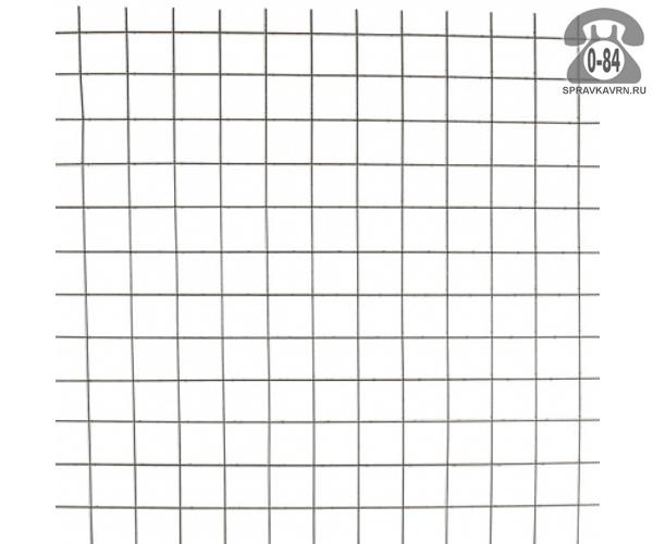 Сетка в картах яч.100х100х3.6мм, 1.5х2м, неоцинкованная