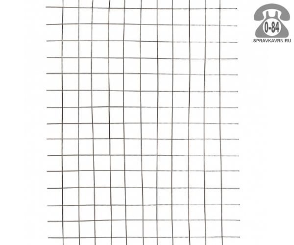 Сетка в картах яч. 55х55х2.6мм, 1х2м, неоцинкованная