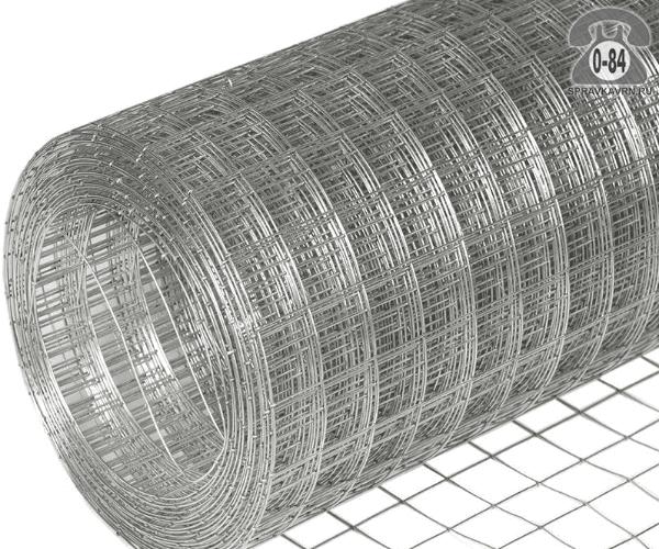 Строительная сетка диаметр 1.6мм  ячейка 50x50мм ширина 2м