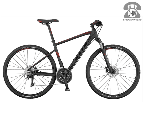 "Велосипед Скотт (Scott) Sub Cross 20 (2016) размер рамы 18.5"" серый"