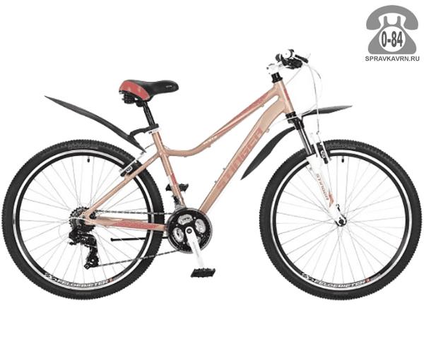 "Велосипед Стингер (Stinger) Vesta 26 (2017), рама 15.5"" размер рамы 15.5"" желтый"