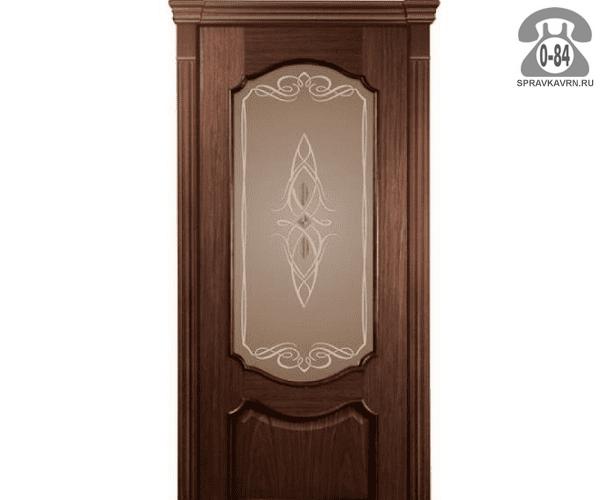 Межкомнатная деревянная дверь Левша, фабрика Верона остеклённая 80 см шоколад