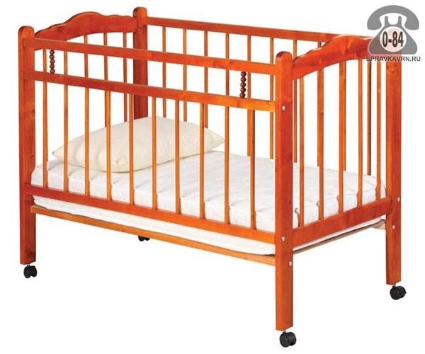 Кроватка для новорождённых Уренский леспромхоз Ладушка (колесо)