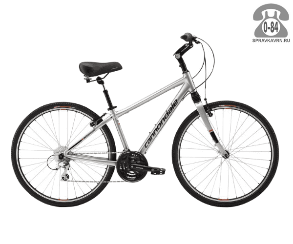 "Велосипед Канондейл (Cannondale) Adventure 1 (2016) размер рамы 18.5"" серый"